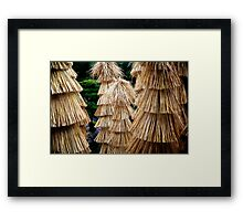 Straw Towers in the Castle Garden Framed Print