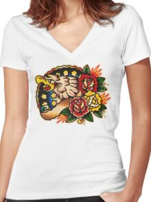Spitshading 020 Women's Fitted V-Neck T-Shirt