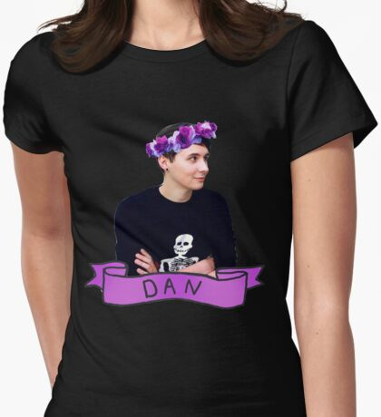 Dan  Womens Fitted T-Shirt