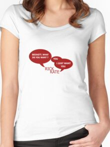 Beckett what do you want ?  Women's Fitted Scoop T-Shirt