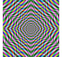 Twelve Pointed Psychedelic Web Photographic Print