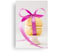 Whoopie Pie In Pink Bow Canvas Print