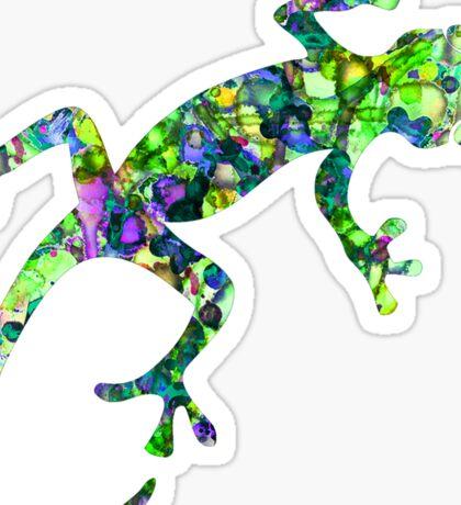 Tie-Dye Gecko Sticker