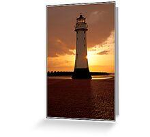 Lighthouse Sunset 2 Greeting Card