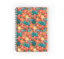 Blossom red flower Spiral Notebook