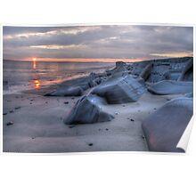 tywyn sunset  Poster