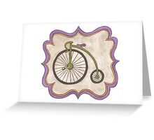 Penny-farthing Greeting Card