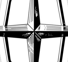 Classic Lincoln hood star emblem Sticker