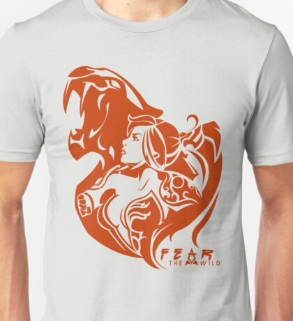 Nidalee - They will fear the wild (Colored) Unisex T-Shirt