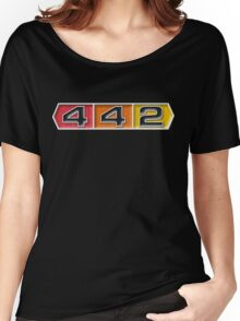 Oldsmobile 442 badge emblem Women's Relaxed Fit T-Shirt