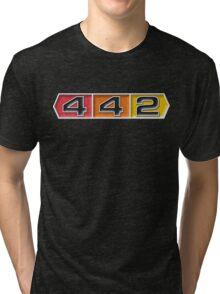 Oldsmobile 442 badge emblem Tri-blend T-Shirt
