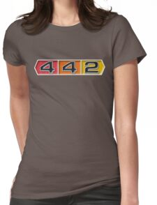 Oldsmobile 442 badge emblem Womens Fitted T-Shirt