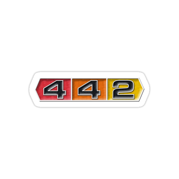 quotoldsmobile 442 badge emblemquot stickers by robin lund