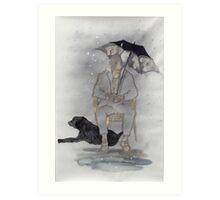 On a rainy day Art Print
