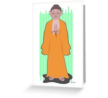 Praying Peaceful Buddha Greeting Card
