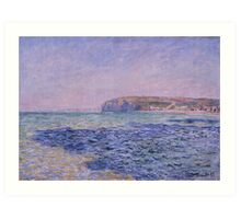 Shadows on the Sea. The Cliffs at Pourville by Claude Monet Art Print