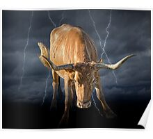 Bull Market, symbol of the increase in financial markets Poster