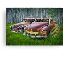 Vintage Frazer Auto Wrecks Canvas Print