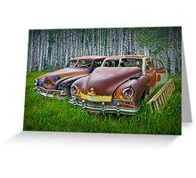 Vintage Frazer Auto Wrecks Greeting Card