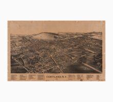 Panoramic Maps Cortland NY Kids Tee