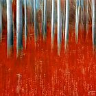 Impressionistic Red Forest by Randall Nyhof