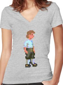 Guybrush (Monkey Island 1) Women's Fitted V-Neck T-Shirt