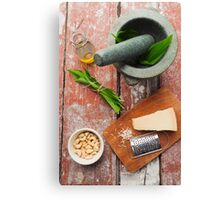 Wild garlic pesto Canvas Print