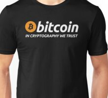 Bitcoin In Cryptography We Trust Unisex T-Shirt
