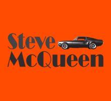 Steve McQueen & 1968 Ford Mustang GT Kids Tee
