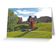 Piper at Urquhart Castle Greeting Card