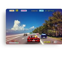 Outrun retro pixel art Canvas Print