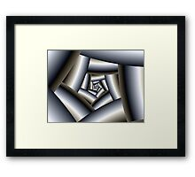 Steel Spiral Framed Print