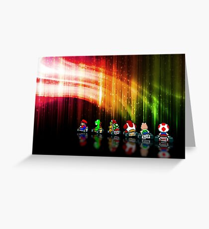 Super Mario Kart pixel art Greeting Card