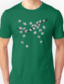 Triangulated Cherry Blossoms Unisex T-Shirt