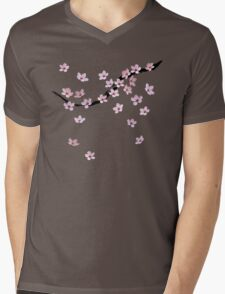 Triangulated Cherry Blossoms Mens V-Neck T-Shirt