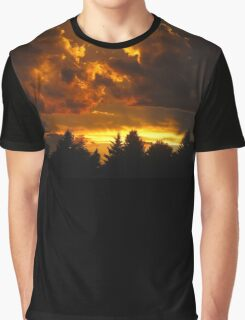 Sunset in Alberta Graphic T-Shirt