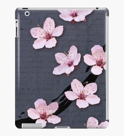 Triangulated Cherry Blossoms iPad Case/Skin