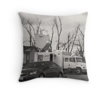 Right There In Black And White Throw Pillow