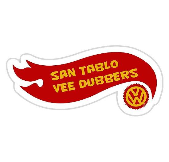 San Tablo Vee Dubbers Flame art by zacco