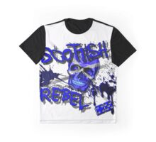 Scottish Rebel Skull Design  Graphic T-Shirt