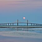 Supermoon over the Skyway Bridge HDR by MKWhite
