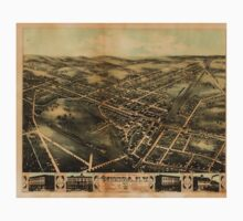 Panoramic Maps View of Oneida NY1874 One Piece - Short Sleeve