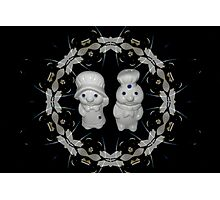 *•.¸♥♥¸.•*MY PILSBURY DOUGH BOY DOUGH GIRL SALT & PEPPERS SHAKERS*•.¸♥♥¸.•* Photographic Print