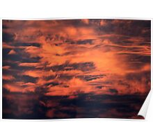 Flaming clouds Poster