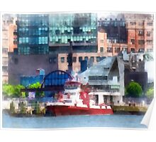 New York Fire Boat Poster