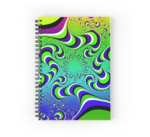 Optical Illusion - Colour Waves Spiral Notebook