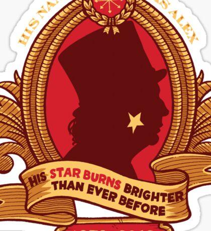 His Star-Burns Bright Sticker