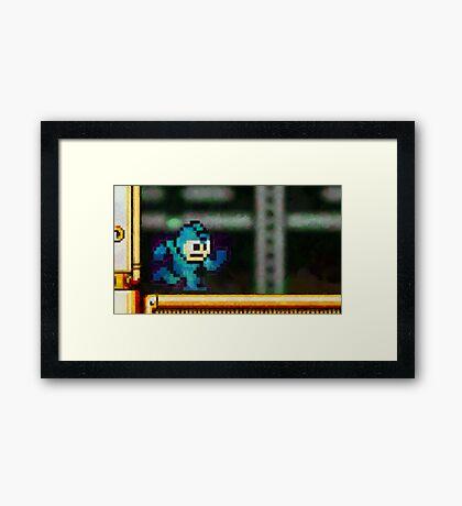 Mega Man retro painted pixel art Framed Print