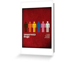 Reservoir Dogs Poster (Filtered) Greeting Card
