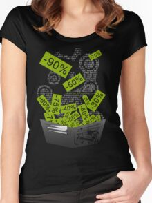 Steam Sales : Empty wallet season Women's Fitted Scoop T-Shirt